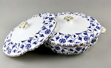 SPODE ENGLAND BLUE COLONEL Y6235 VEGETABLE TUREEN DISH & COVER PLUS SPARE COVER