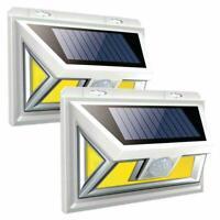 74 LED COB Solar Power Wandleuchte Bewegungsmelder Gartenweg Sicherheitsle G4P9