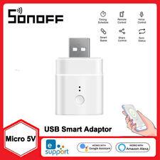 SONOFF Micro 5V Smart Wireless USB Adaptor Wifi Mini USB Power Adaptor Switch US