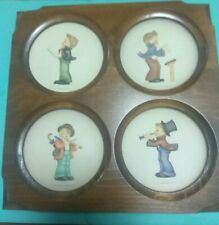 """M.J. Hummel Edition On A Series Of Four """"Little Music Makers"""" Plates Goebel1983"""