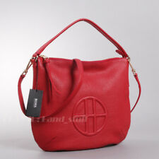 Hugo Boss Scarlet Pebbled Leather Logo Clutch Bag Crossbody NWT Authentic Rare