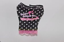 Barbie doll Mattel dont bother me Im sleeping black shirt top polka dots white