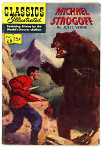 Classics Illustrated 28 Michael Strogoff HRN 115 Jules Verne VG-