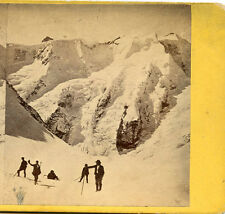 BERNESE OBERLAND SWITZERLAND CANTON OF BERN HIKERS MOUNTAIN PEAKS STEREOVIEW