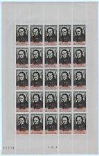 """FRANCE 1942-Yt.550b STENDHAL""""""""Planche Complète de 25 timbres dont 5 avec variété"""