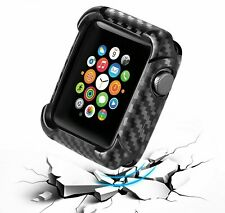 Shockproof Carbon Watch Cases For Apple iWatch 38 40 42 44mm Protective Covers