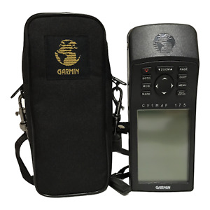 Garmin GPS MAP 175 Hand Held GPS with Card Working with Carrying Case Bundle