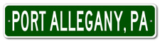 PORT ALLEGANY, PENNSYLVANIA  City Limit Sign - Aluminum