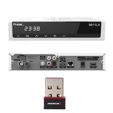 Protek 9911 HD E2 Linux HDTV Sat Receiver 1x Sat Tuner 9910 DVB-S2 + WLAN Stick