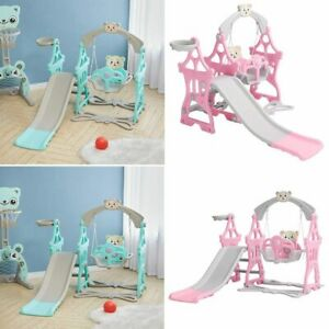 Kids Swing and Slide Set Toddler Baby In/Outdoor Playground Climb Boy Girl Toy