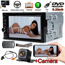 Sony Lens Camera Double Din Car Stereo Radio DVD Bluetooth TV USB Mirror For GPS