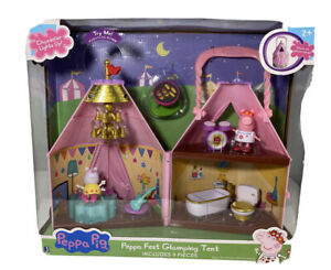 Peppa Pig Peppa Fest Glamping Camping Tent Suzy Peppa Accessories 3 Rooms