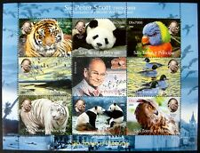 WILD ANIMAL STAMPS SHEET WWF 2004 MNH SAO TOME E PRINCIPE SIR PETER SCOTT PANDA