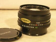 Konica Hexanon AR 40mm F1.8 Pancake Manual Focus Lens