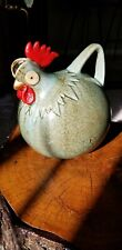 Whimsical Chicken/Rooster Ceramic Pitcher, Hand Made