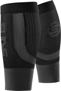 Skins Seamless Compression Calf Guards Black Unisex Improves Blood Flow Recovery