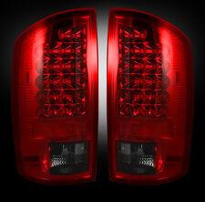 2007-09 Dodge Ram Rear Brake & Reverse Dark Red Taillights w/ Brake LED Bulbs