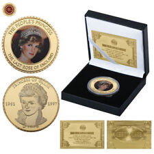 WR Royal Princess of Wales Diana GOLD Coin In Box Valentines Gifts For Her Wife