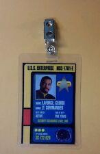 Star Trek Id Badge - Enterprise 1701 E Lt. Commander Geordi LaForge cosplay