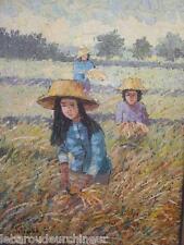 peinture signée asie cambodge vietnam