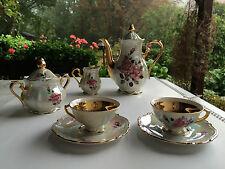 BAVARIA 1, Kaffeeservice für 2 Personen, Rosen und Gold