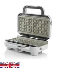 Breville Waffle Maker DuraCeramic Coating Silver EU Plug W/ FREE UK Adapter