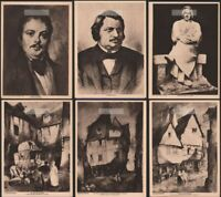 SIX  Balzac French Novelist Playwright Original 1919 Photogravure Prints