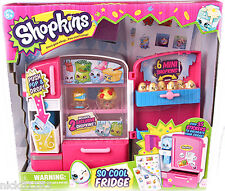SHOPKINS SO COOL FRIDGE PLAYSET STORE DISPLAY 6 MINIS OVER 35 STICKERS SEASON 2