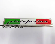 ENAMEL Chrome sensible Italian Flag Car Badge FIAT ALFA