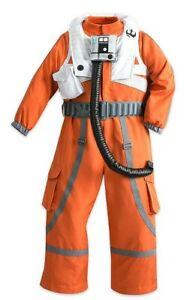 Pilot Costume Flight Suit Star Wars POE DAMERON DISNEY Child Small 4 NEW