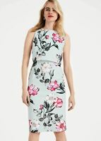 Phase Eight Melinda Floral Printed Sheath Dress Oyster//Multi Size UK10 RRP110