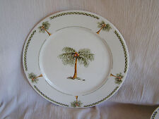 Gibson Bahama Palm Tree Tropical Beach Island Ocean Seaside Salad Plate Dish