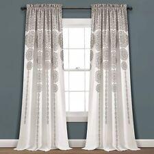 "Lush Decor 2-pack Stripe Medallion Room Darkening Window Curtains - 52"" x 84"