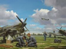 Hawker Typhoon 2nd Tactical Air Force D-Day Aircraft Plane Aviation Art Print