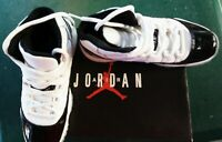 Nike Air Jordan 11 XI Retro GS Youth Concord 2018 White Black Size 6Y 378038 100