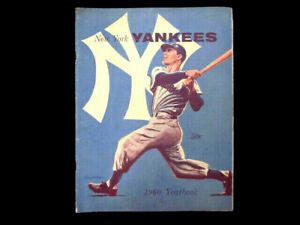 1960 NEW YORK YANKEES Mickey Mantle SOUTHEE Artist Cover Baseball Yearbook