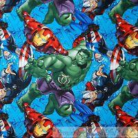 BonEful Fabric FQ Cotton Quilt Avengers Super Hero Hulk Marvel Captain America L