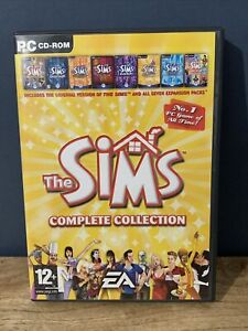 THE SIMS COMPLETE COLLECTION - PC Original Game + 7 Expansions Discs Only