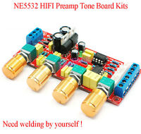 NE5532 HIFI Preamp Pre-amplifier Tone Board Kits Treble Alto Bass Volume Control