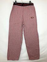 San Francisco 49ERS Unisex Pajama/Lounge Pants! Red & White Plaid. Logo. Sz S