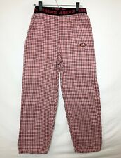 San Francisco 49ERS Unisex Pajama/Lounge Pants! Red & White Plaid. Logo. Sz S