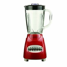Brentwood Blender with Glass Jar, 12-Speed + Pulse, Red (jb920r)