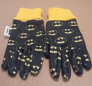 Midwest Yellow and Black Children's 3+ Batman Garden Gloves