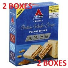 2 Boxes 0f Atkins Snack Protein Wafer Crisps Peanut Butter 5 bars / box