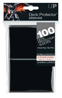 Ultra PRO Deck Protector Sleeves Standard Card BLACK 100ct 66 x 91mm