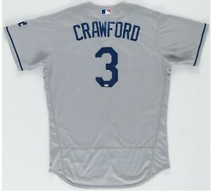 CARL CRAWFORD LOS ANGELES DODGERS TEAM ISSUE JERSEY MLB HOLOGRAM AUTHENTICATED
