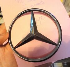 MERCEDES-BENZ 3.5 Inch ORIGINAL CHROME TRUNK EMBLEM-PRE-OWNED MUST SELL
