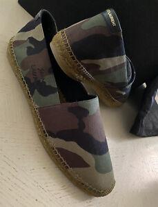 New Saint Laurent Signature Camo Mens Canvas Espadrille Shoes 10 US/43 Eu  Italy