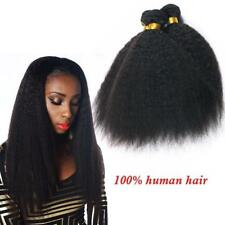 3PC/150g 100% Brazilian Virgin Hair Kinky Straight Wave Human Hair Extensions