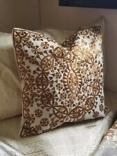 Moroccan Pillow, Brown Pillow, Embroidery, Handmade, Dorm Pillow, Gifts for her
